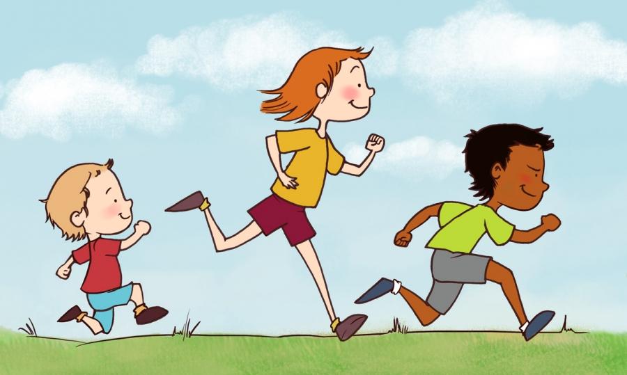 Image result for kid jogathon cartoon